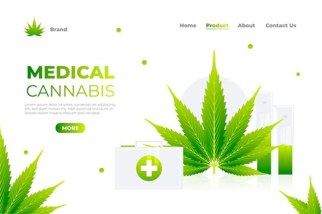 Modèle de page de destination des avantages du cannabis médical