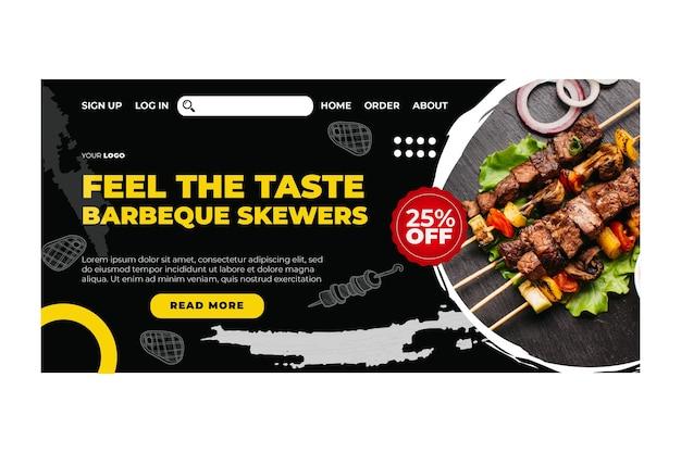 Modèle de page de destination barbecue