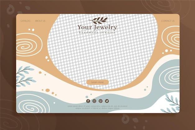 Modèle de page de destination de bijoux faits à la main