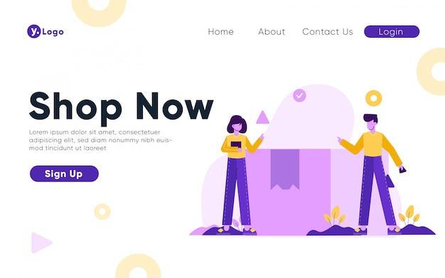 Modèle de page de destination de la boutique en ligne