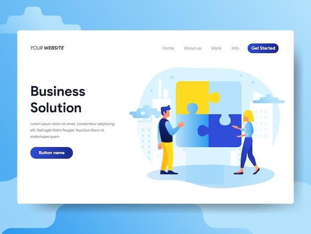 Modèle de page de destination de business solution