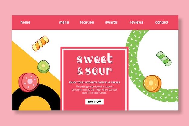 Modèle de page de destination candy