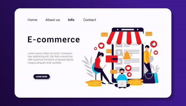 Modèle de page de destination de commerce électronique