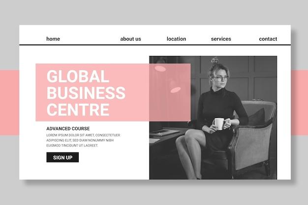 Modèle de page de destination commerciale générale