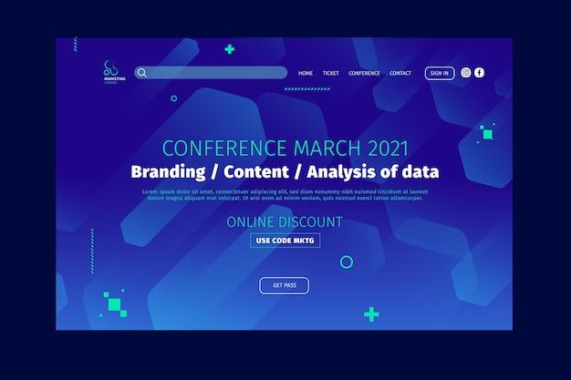 Modèle de page de destination commerciale marketing