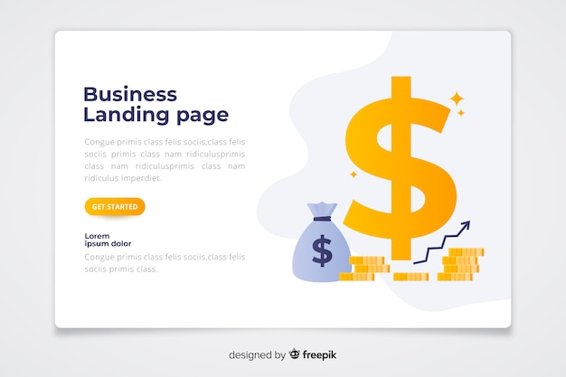 Modèle de page de destination de concept d'affaires