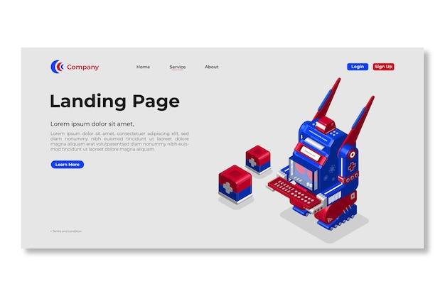 Modèle de page de destination. conception de pages web.