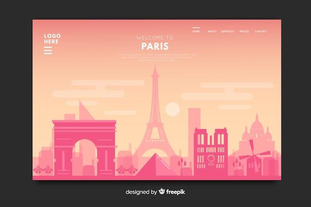 Modèle de page de destination de conception de pays