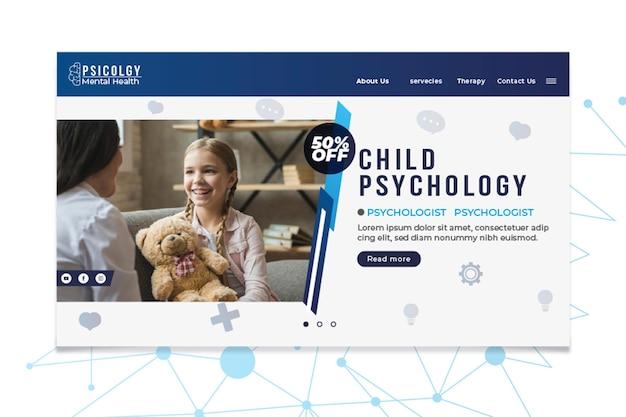 Modèle de page de destination de consultation de psychologie de la santé mentale