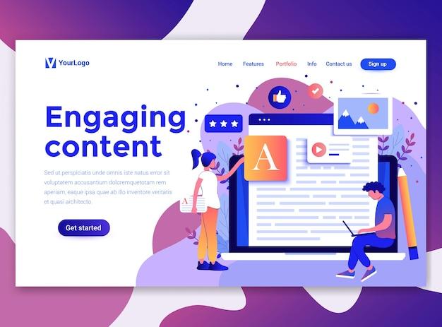 Modèle de page de destination de contenu engageant