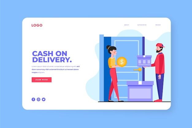 Modèle de page de destination contre paiement à la livraison