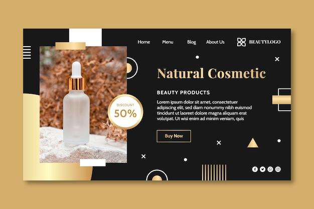 Modèle de page de destination cosmétique naturelle
