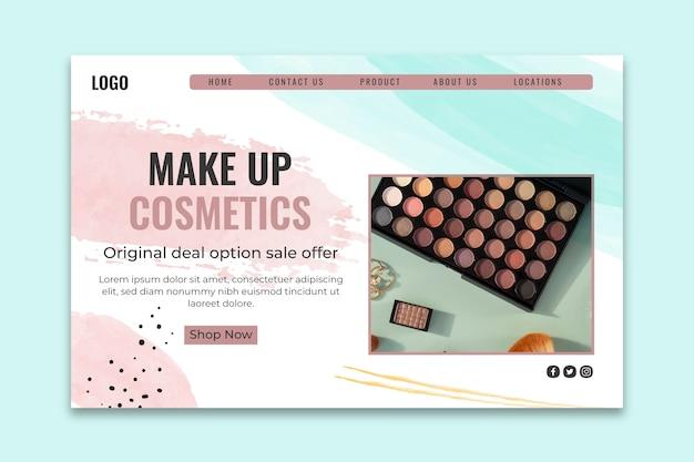 Modèle de page de destination cosmétique