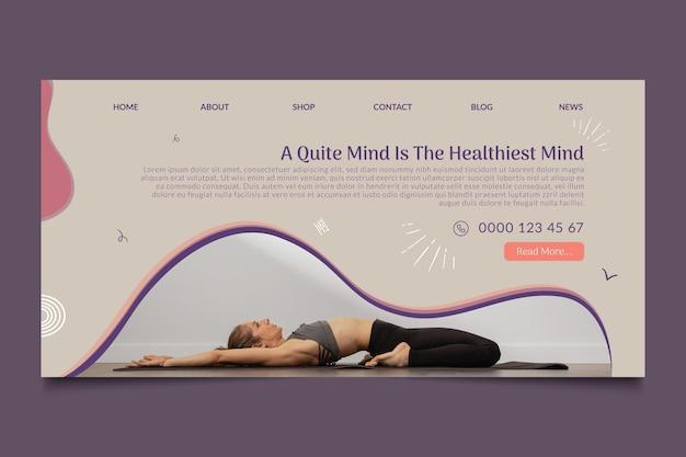 Modèle de page de destination de cours de yoga