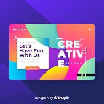 Modèle de page de destination créative