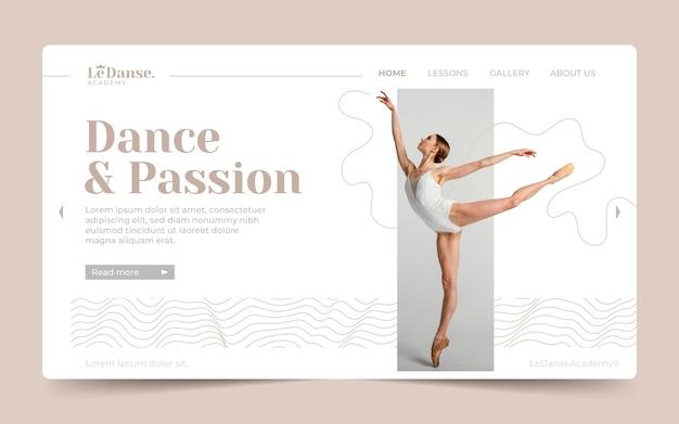 Modèle de page de destination de danse