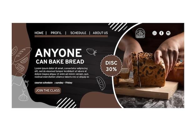 Modèle de page de destination de délicieux pain
