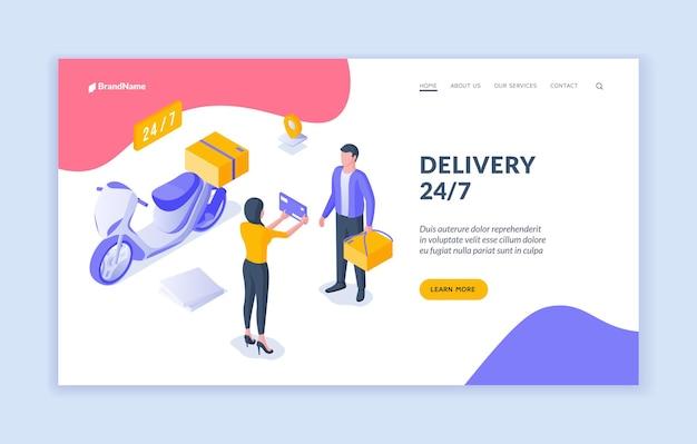 Modèle de page de destination delivery 24 7