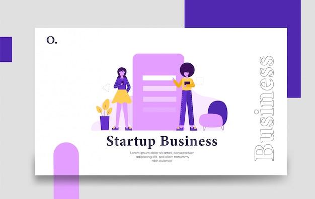 Modèle de page de destination de démarrage d'entreprise