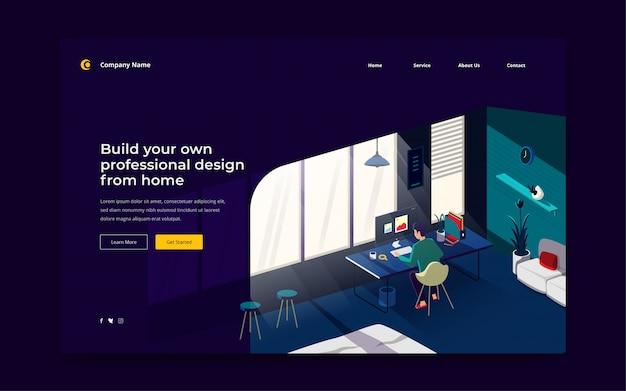 Modèle de page de destination de design builder