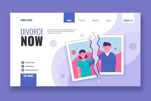 Modèle de page de destination de divorce