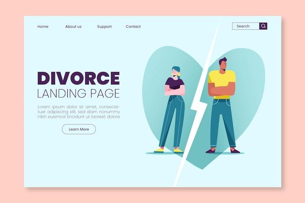 Modèle De Page De Destination De Divorce Vecteur gratuit