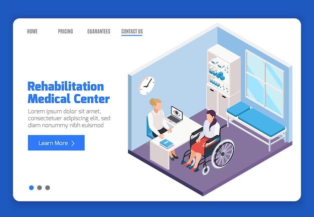 Modèle de page de destination du centre médical de réadaptation