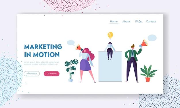 Modèle de page de destination du concept de publicité d'entreprise