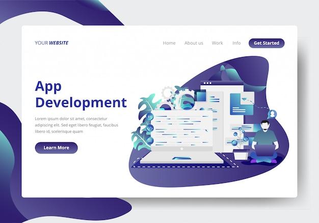Modèle de page de destination du développement d'applications