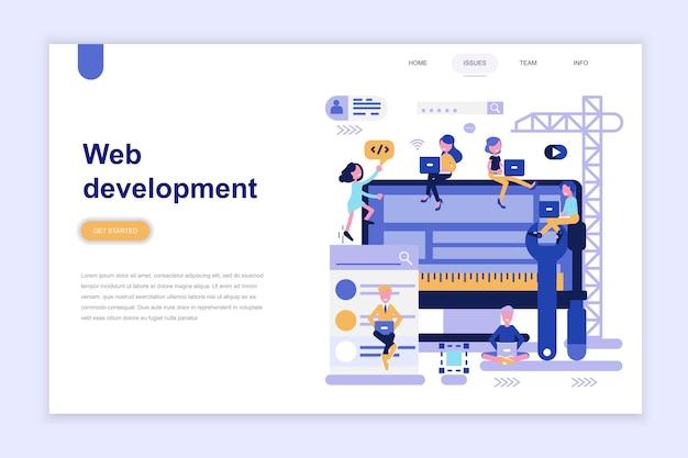Modèle de page de destination du développement web