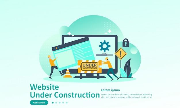 Modèle de page de destination du développeur de site web