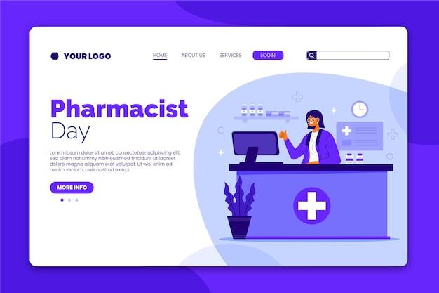 Modèle de page de destination du jour du pharmacien