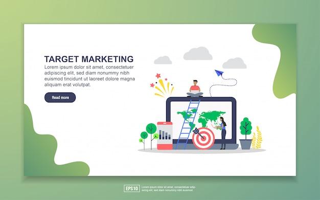 Modèle de page de destination du marketing cible