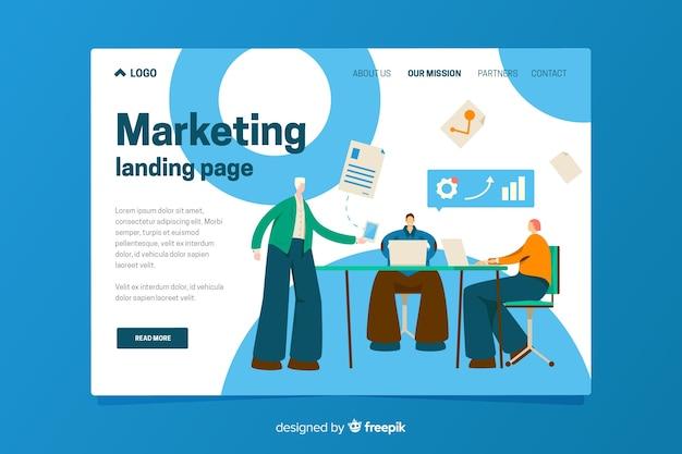 Modèle de page de destination du marketing