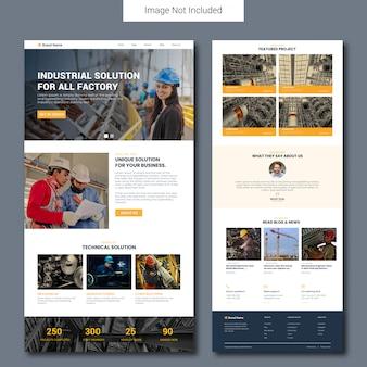 Modèle de page de destination du service de construction