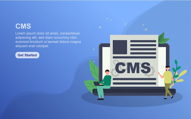 Modèle de page de destination du système de gestion de contenu.