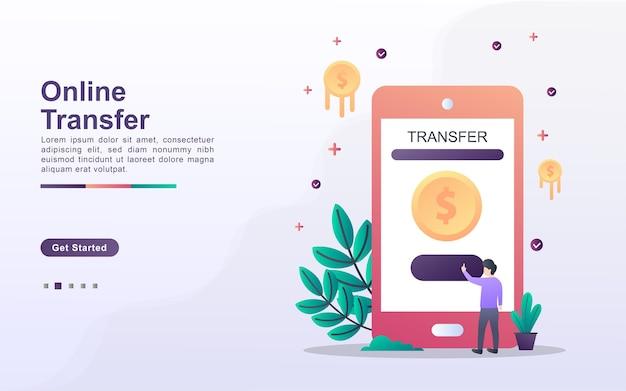 Modèle de page de destination du transfert en ligne
