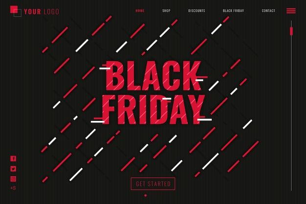 Modèle de page de destination du vendredi noir