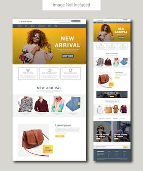 Modèle de page de destination e-commerce fashion