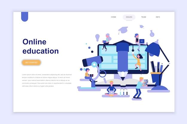 Modèle de page de destination de l'éducation en ligne