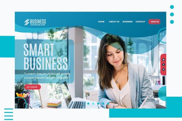 Modèle de page de destination d'entreprise intelligente