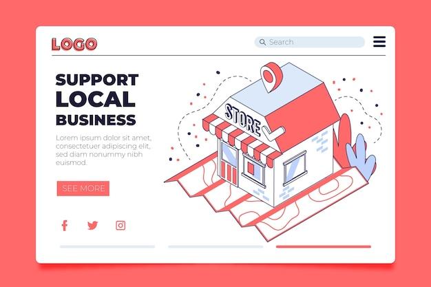 Modèle de page de destination entreprise locale