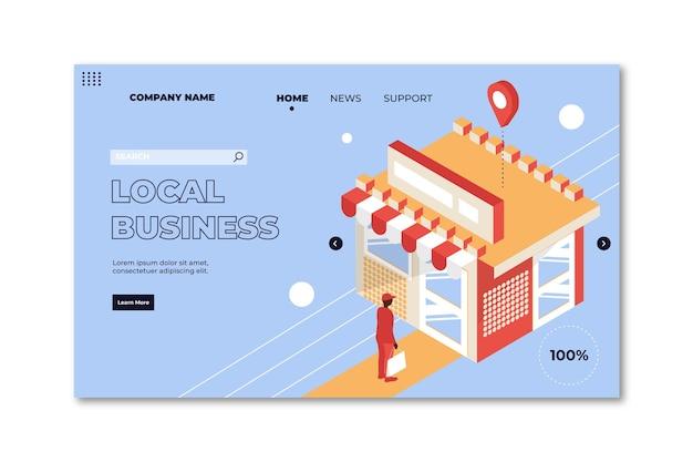 Modèle de page de destination d'entreprise locale