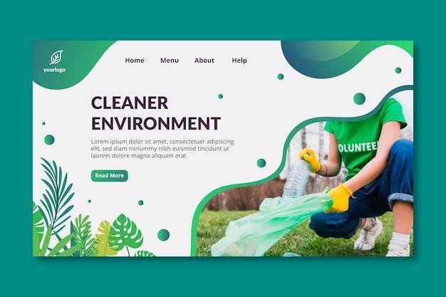 Modèle de page de destination d'environnement