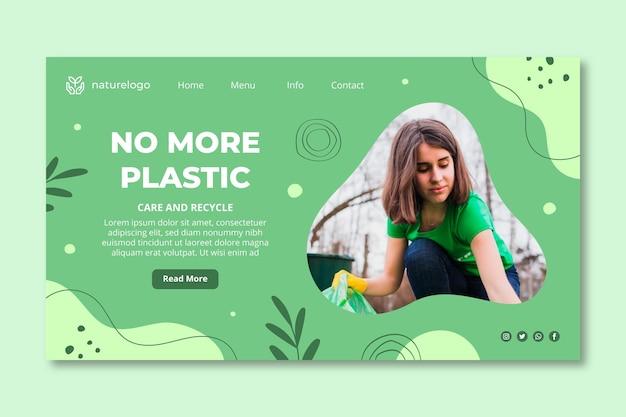 Modèle de page de destination de l'environnement
