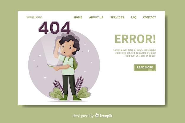 Modèle de page de destination erreur 404