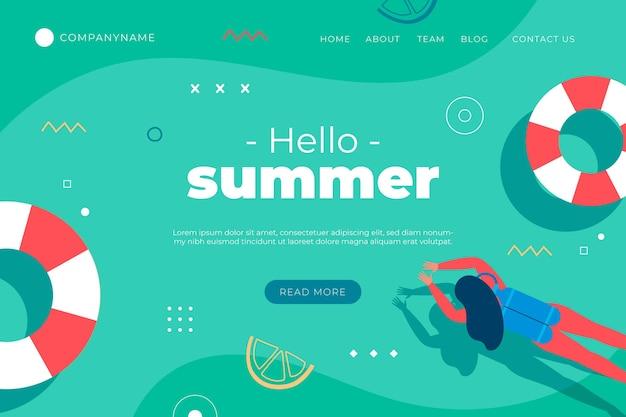 Modèle De Page De Destination D'été Vecteur gratuit