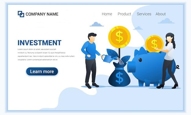 Modèle de page de destination financière