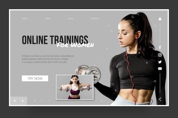Modèle de page de destination de formation en ligne pour les femmes