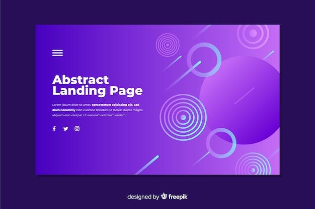 Modèle de page de destination de forme abstraite